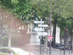 Statue of Marchal Ney, Avenue de l'Observatoire, Paris (ell brown) Tags: paris france sign statue coach sword iledefrance avenuedelobservatoire directionsigns marechalney statuedumarchalney