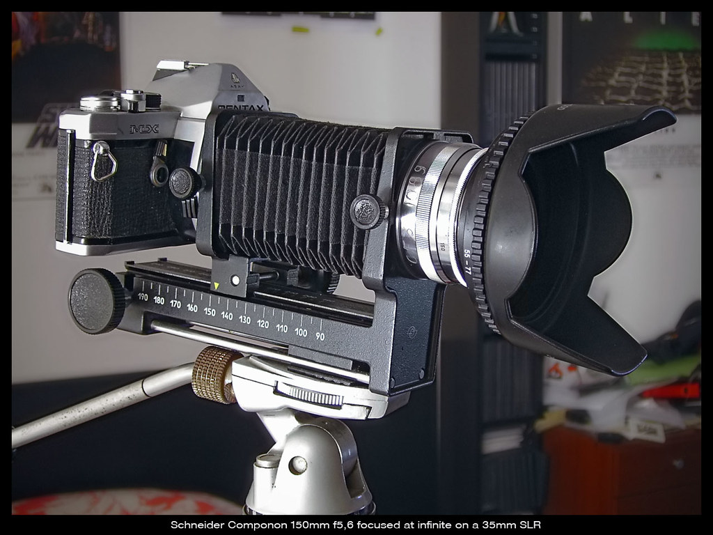 large format lens on a 35mm SLR