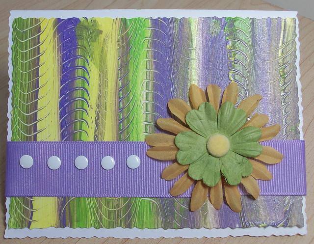 striped scraped card