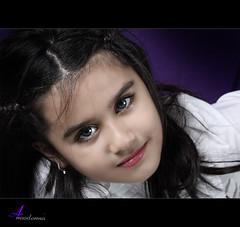 Eye contact [ Explore ] (ANOODONNA) Tags: portrait girl studio eyecontact explore canonef2470mmf28lusm بورتريه canoneos50d anoodonna العنودالرشيد alanoodalrasheed