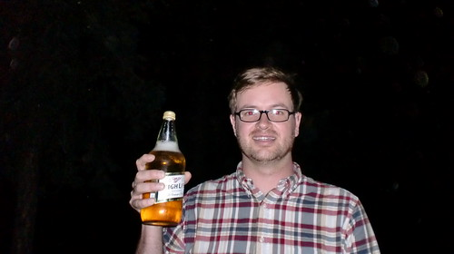 Jeff O Holds Miller High Life