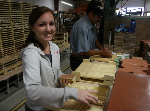 Kate Fox, Fireclay Tile Ceramicist, Making TIle!