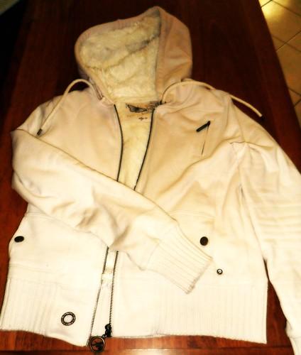 Pale pink fur hoodie