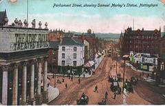Parliament Street, Nottingham (Brownie Bear) Tags: street old nottingham uk england st square theatre britain postcard united great royal kingdom parliament upper gb sq