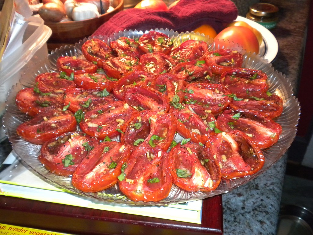 roasted tomatoes, fragrant and tasty