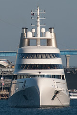 Motor Yacht A at anchor (SBGrad) Tags: wow aperture nikon sandiego yacht nikkor 2010 alr d90 blohmvoss superyacht tc17eii 80200mmf28dafs motoryachta blohmvossgmbh