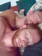 rested (redjoe) Tags: nyc newyorkcity light urban man men home boyfriend me smile self hair fur beard ginger bed bedroom afternoon sweet sleep manhattan redhead pillow together blanket upperwestside freckles date redhair fuzz saltandpepper silverfox redjoe joehorvath