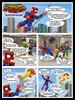 Spider-Man in Birthday Blues! (pg 1) (lazergir1) Tags: photoshop comics toys spiderman iceman marvel figures diorama firestar doctoroctopus greengoblin minimates diamondselecttoys dioramaminimatesdiorama minimatesdiorama