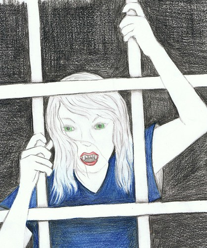 illustration friday - caged