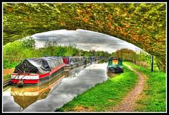 Narrow Boats (Fazer44) Tags: colour green water canon river boat long image narrow barge hdr
