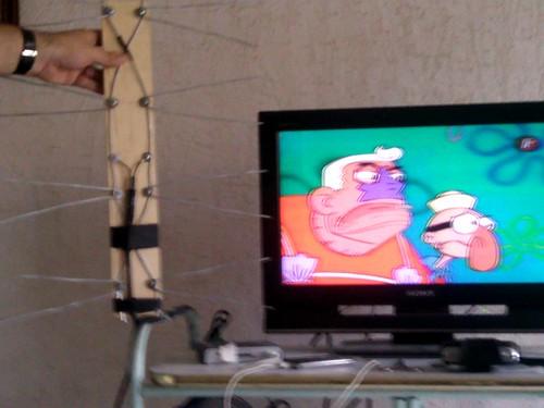Mi antena de televisión casera