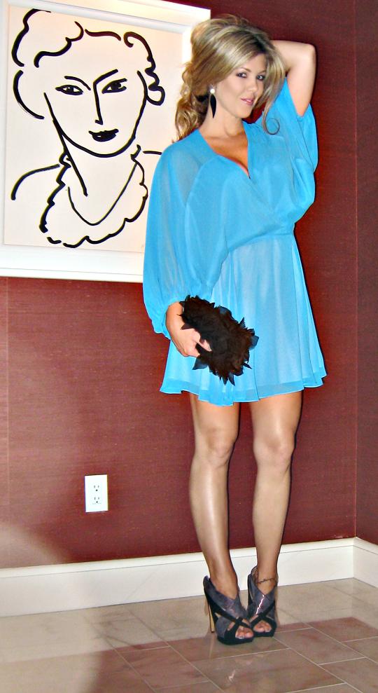 mara hoffman dress+petal bag+kirkwood shoes