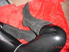 black catsuit coat (ARABELLLLA1) Tags: red ballet leather shiny dress flat vinyl belts skirt rubber gloves latex gummi zip rainwear catsuit pvc waterproof jumpsuit lack ballerine fetishgirl maddision lackhose