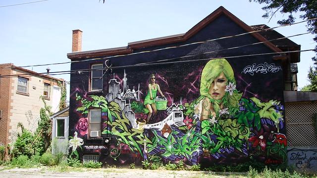 mural on Portland Street, Toronto