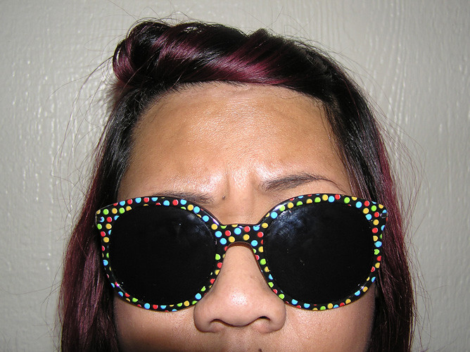 Black + Polkadot Sunglasses.