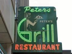 RIP - Peter's Grill (altfelix11) Tags: minnesota restaurant minneapolis grill neonsign 8thstreet vintagesign eighthstreet vintageneonsign petersgrill