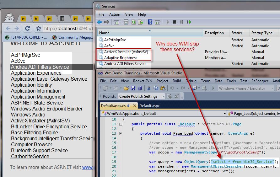 WMI asp.net issue
