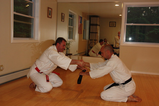 Michael getting his official black belt