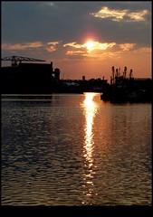 Sunset Vlissingen (Calmpjes) Tags: sunset haven reflection harbour crane ships vlissingen