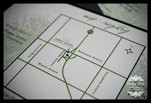 Custom Map Card for Wedding Invitations
