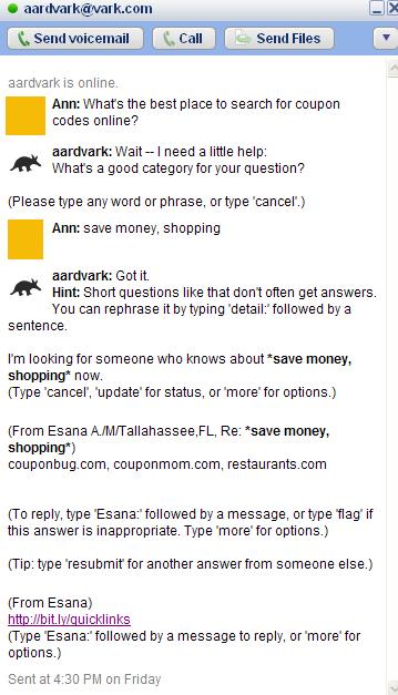 Aardvark - save money