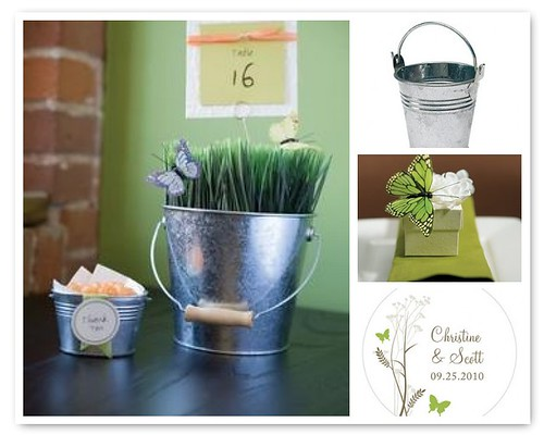 diy garden wedding centerpieces MATERIALS For Table Number Large Tin Pail