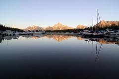 Coulter Bay, Grand Teton National Park (Wind Home) Tags: morning summer reflection marina docks boats wyoming waterscape grandtetonnationalpark