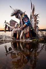 """A Warrior's Soul (davebrosha) Tags: boy summer lake water sunrise photoshoot dancing native creative dancer danny aboriginal northwestterritories stephens backbay yellowknife greatslavelake powwow micmac modelreleased davebroshaphotography micmaq warriormicmaq"
