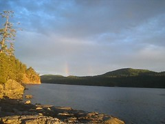 Oh my gaaaaaawd! Double Rainbow! (Adam Bognar) Tags: camping sunset canada rainbow bc kayaking desolationsound bourbon doublerainbow sunshinecoast incredisummer