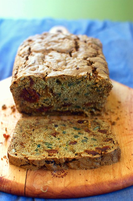 zucchini bread with dried cherries