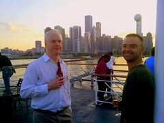 Keith and Ross (Oleg.) Tags: city cruise lake chicago water skyline landscape boat ross illinois downtown cityscape michigan keith lakemichigan conferences sheraton lakefront xrm xrm2010 xraymicroscopyconference