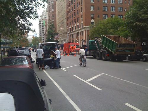 Blocking a Bike Lane