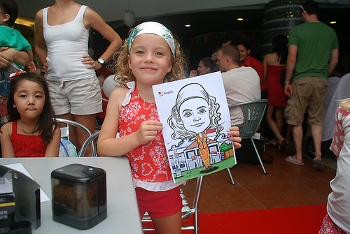 Caricature live sketching for The British Club and Singtel -11