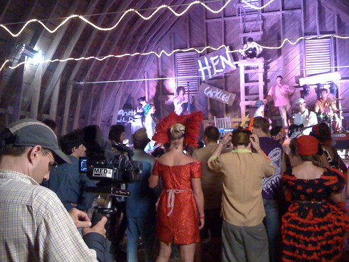 "Toubab Krewe ""Cluck Old Hen"" video shoot in the barn at Warren Wilson College"