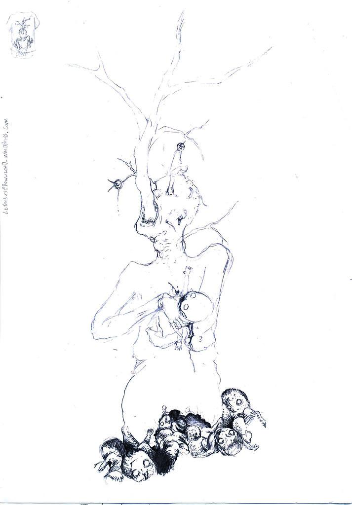 First rejected sketch... / Primeiro esboço recusado...