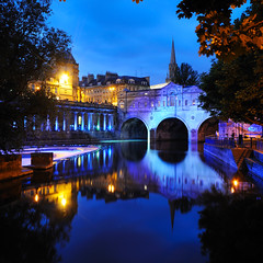 A new direction (le-spikey) Tags: lighting blue water reflections river lights nikon bath soft purple theatre cyan sigma lee hour grad 1020 avon weir pulteney 06nd d300s