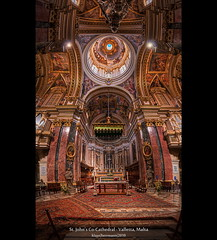 St. Johns Co-Cathedral - Valletta, Malta (HDR Vertorama) (farbspiel) Tags: travel red vacation panorama holiday colour green history tourism church colors photoshop geotagged religious temple gold ancient nikon worship colorful colours interior religion kirche belief malta historic holy journey stitching photomerge colourful spiritual stitched dri hdr highdynamicrange farben valletta superwideangle 10mm postprocessing dynamicrangeincrease ultrawideangle d90 photomatix tonemapped tonemapping mlt farbenpracht detailenhancer vertorama topazadjust topazdenoise topazsoftware sigma1020mmf35exdchsm topazphotoshopbundle geo:lat=3589776768 geo:lon=1451267123