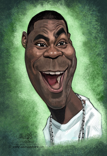 digital caricature of Tracy Morgan