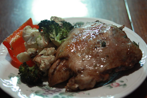 Rosemary Roasted Chicken with Veg