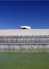 Memorial to JK, Brasilia (MichaelScotch) Tags: brazil reflection water pool niemeyer oscar memorial skylight brasilia jk lightwell whbrasil