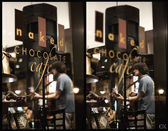 294:365 - Reade at Naked Chocolate (Caleb Kerr) Tags: musician philadelphia cafe dof bokeh guitar livemusic depthoffield philly 365 performer bleachbypass multipleimages project365 colorefexpro nakedchocolate niksoftware dfine20 sharpenerpro viveza2 reademccardell