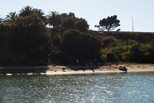 view of beach from boat