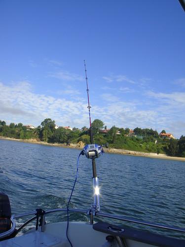 En plena faena de pesca