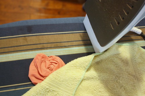 Step 11: With a Damp Cloth, Steam-Iron the Flower Flat