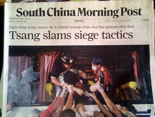 South China Morning Post: Tsang slams siege tactics