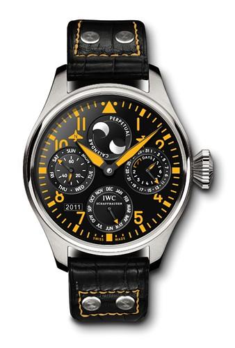 Yellow IWC Big Pilot Perpetual Calendar