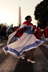 Dana Gacha I (fredferrer) Tags: street woman argentina de dance nikon buenos aires 9 folklore julio crosswalk dana frio gaucho folclore tpica d40