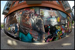 Da Mental Vaporz - Finished Wall (Romany WG) Tags: party london dogs french graffiti jaw block dmv bollocks blo kan 2010 the brusk dran meetingofstyles bomk sowat damentalvaporz
