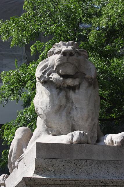 Library Lion, by MacDara on Flickr.