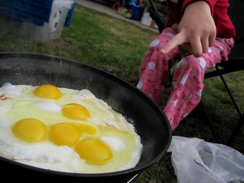 Look! Outdoor cooking!